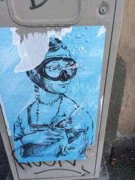 Lady mit Hermelin. Und Taucherbrille.