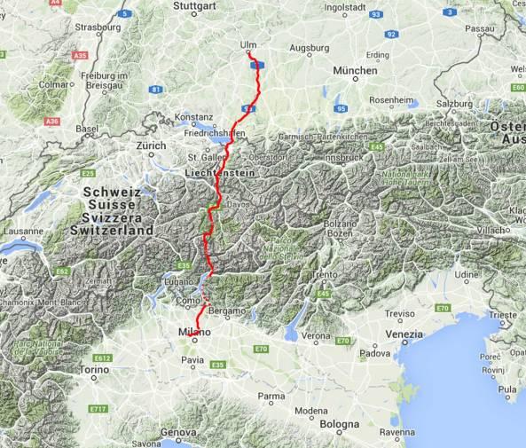 Tour des Tages: 450 Kilometer über die Berge, etwas mehr als 8 Stunden.