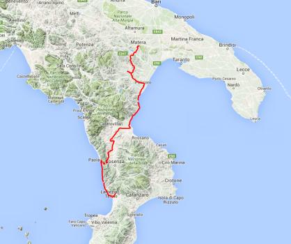 Tagesfahrt: Von Lamezia Terme über Craco nach Matera, rund 300 Kilometer.