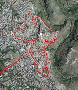 Tour durch Matera.
