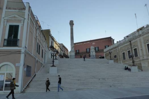 Die römische Säule von Brindisi. Eine zweite steht im 40 km entfernten Lecce.