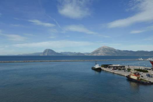 Der Hafen von Patras.