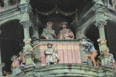 Details der Rathausfassade.