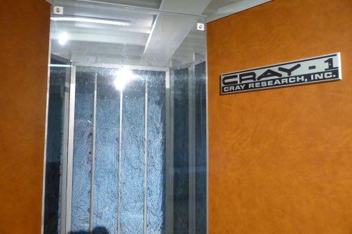 Cray-Supercomputer waren voller Kabel.