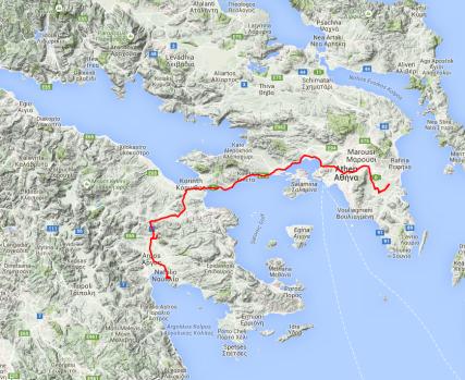 Von Nafplion nach Athen.