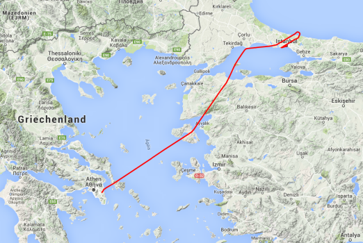 Von Athen nach Istanbul.