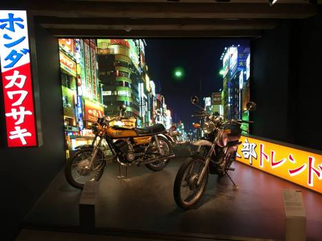 Die 70er: Japanische Maschinen kommen nach Europa.-