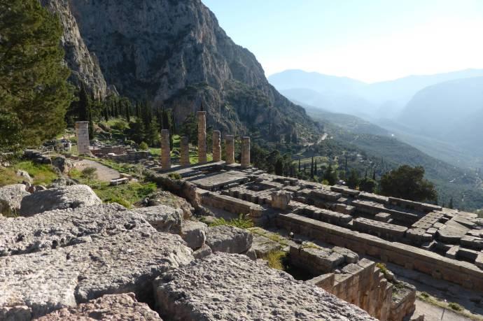 Hauptheiligtum: Der Apollo-Tempel, früher Arbeitsplatz des Orakels.
