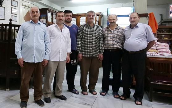 Unser Bademeister ist der Schnauzbart in der Mitte. Bild: Kadirga Hammam.