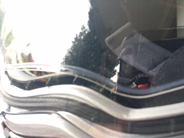 Doppelte Scheibe. Durch die Luft zwischen dem Außenvisier und der Pinlock-Scheibe wird beschlagen zuverlässig verhindert.