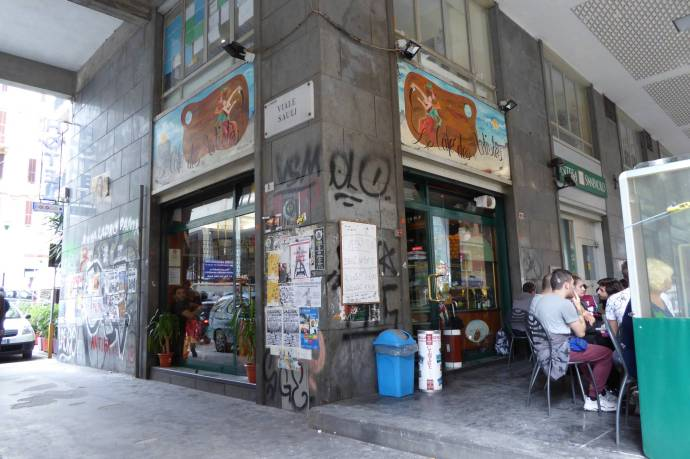 Das Frühstückscafé vor dem Hotel, in dem ich im Februar ´15 übernachtet habe.