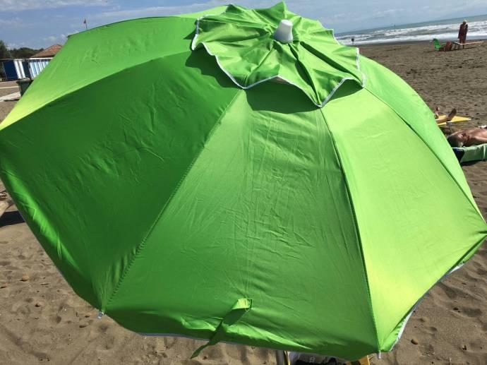 Mein schöner grüner Schirm.