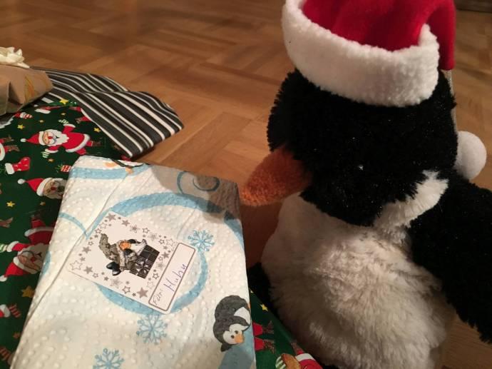 Huhu hat Geschenke geschickt bekommen, ganz für Ihn allein. Natürlich hat er mit dem Auspacken bis Heiligabend gewartet.