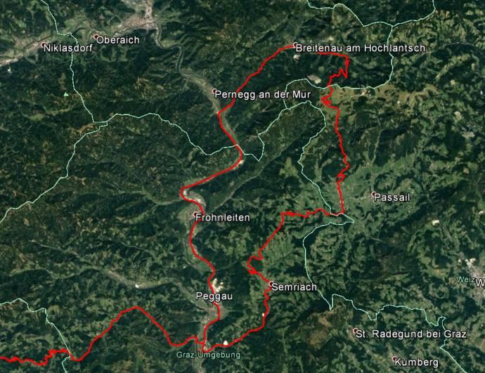 Rundfahrt durch die Steiermark.