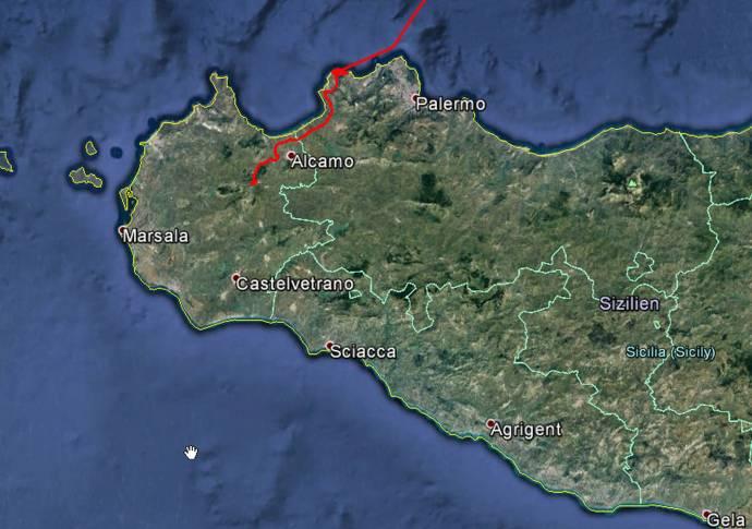 Vom Flughafen Punta Raisi nach Calatafimi sind es nur 40 Kilometer.