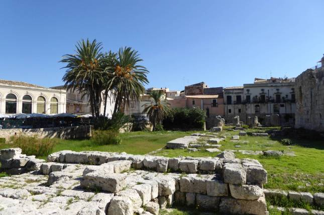 Ruinen mitten in der Stadt.